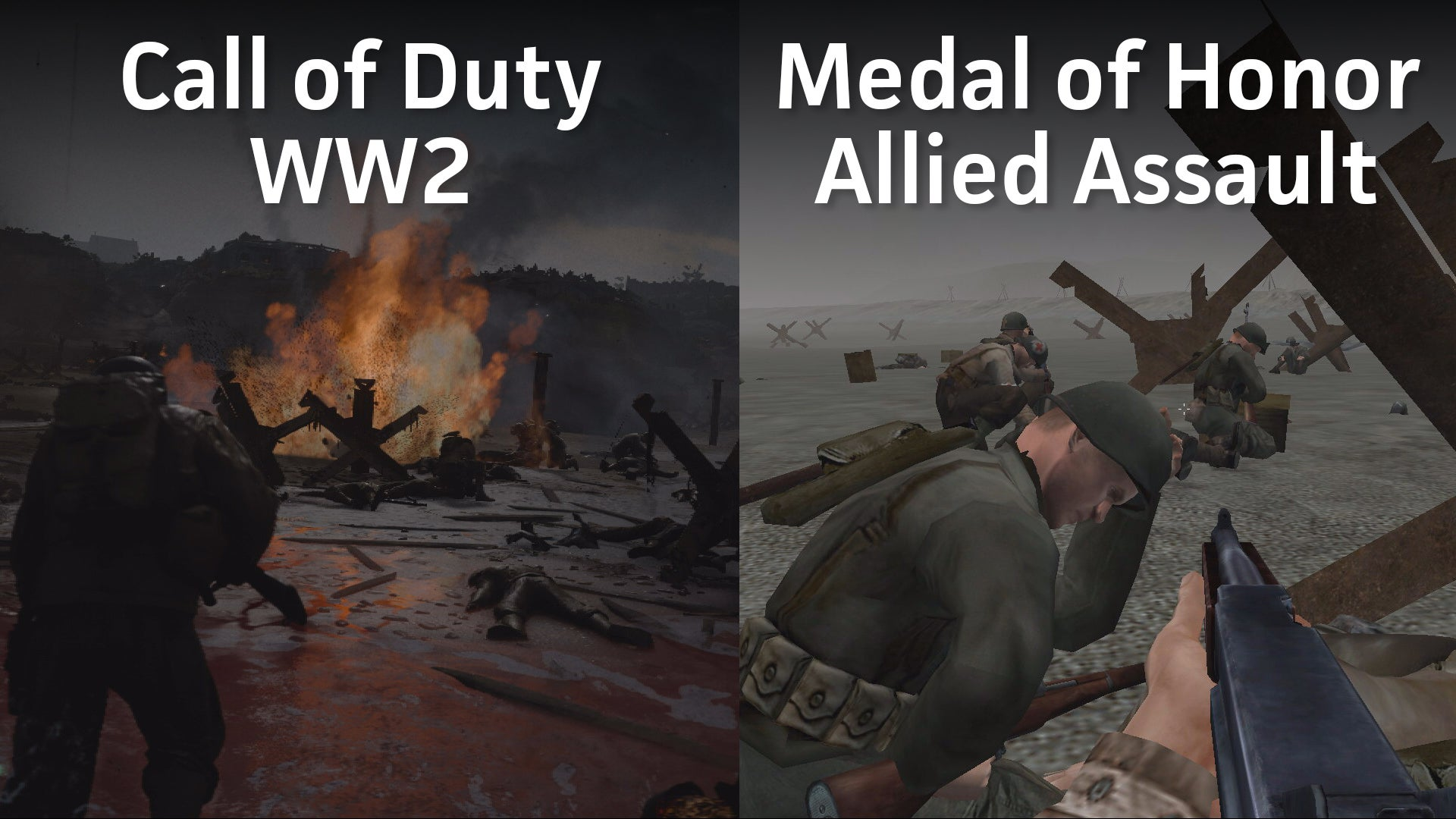 COD WW2 vs MOHAA