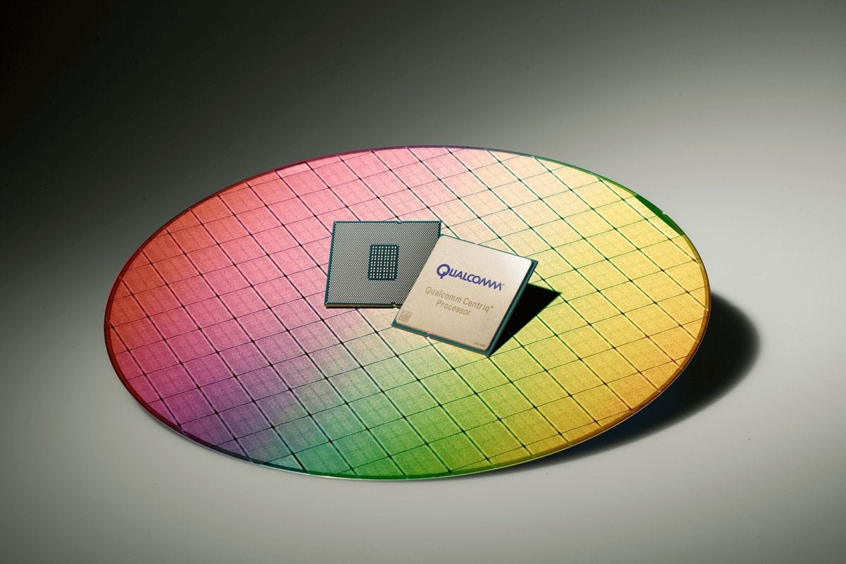 qualcomm centriq 2400 wafer processor color