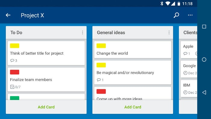 Android apps for organization - Trello