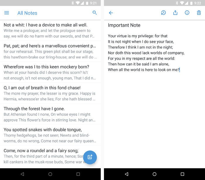 Android note taking apps - Simplenote