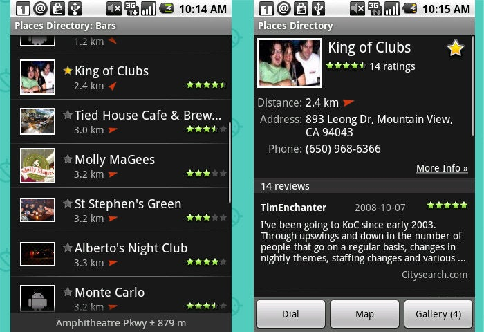 Android Nostalgia - Forgotten Apps: Places Directory
