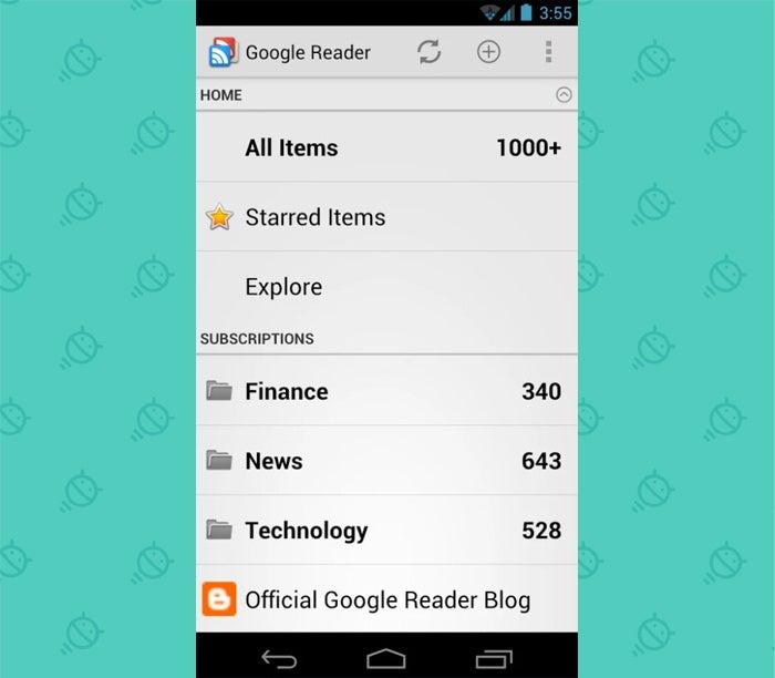 Android Nostalgia - Forgotten Apps: Google Reader