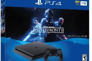 $50 off PlayStation 4 Slim 1TB Console: Star Wars Battlefront II Bundle - Deal Alert