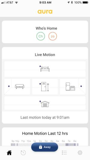 Aura home monitoring app