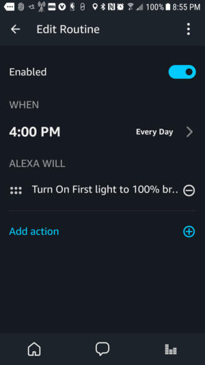 Amazon Echo Plus routines