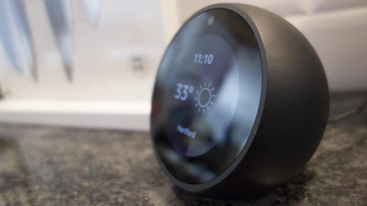 amazon echo spot side