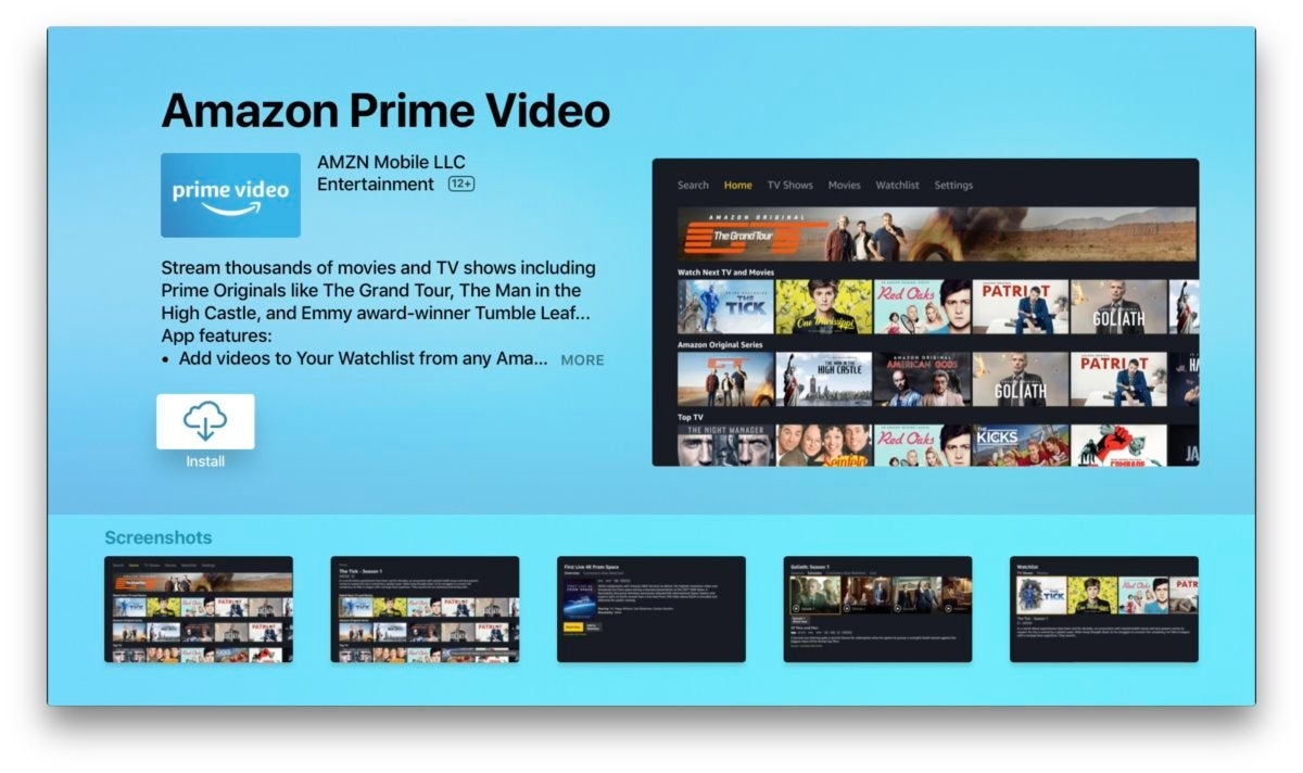 amazon prime video apple tv 2
