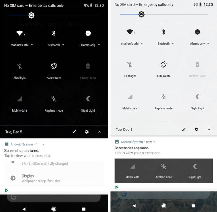 android 8.1 dark