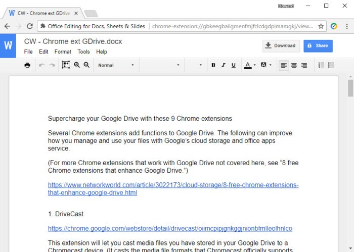 Chrome extensions for Google Drive - Office Editing for Docs, Sheets and Slides