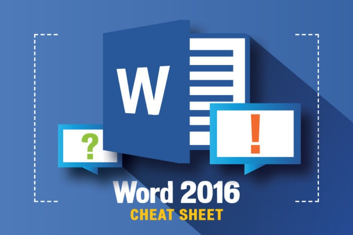 Computerworld - Microsoft Word 2016 Cheat Sheet