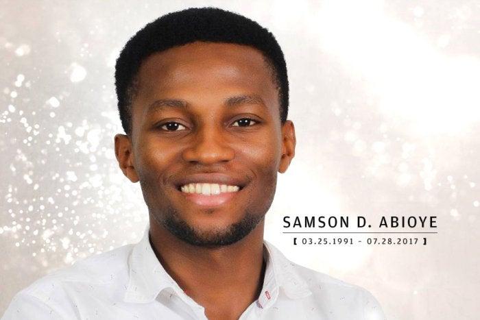 Computerworld - In Memoriam 2017 - Samson Abioye [ March 25, 1991 – July 28, 2017 ]