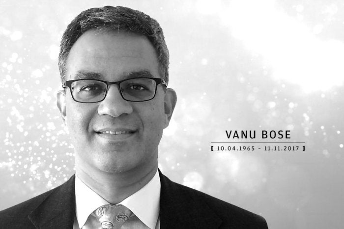 Computerworld - In Memoriam 2017 - Vanu Bose [ October 4, 1965 – November 11, 2017 ]
