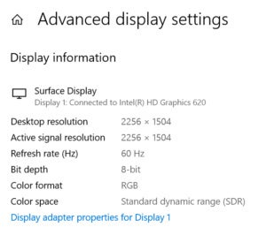 Windows 10 17063 display resolution
