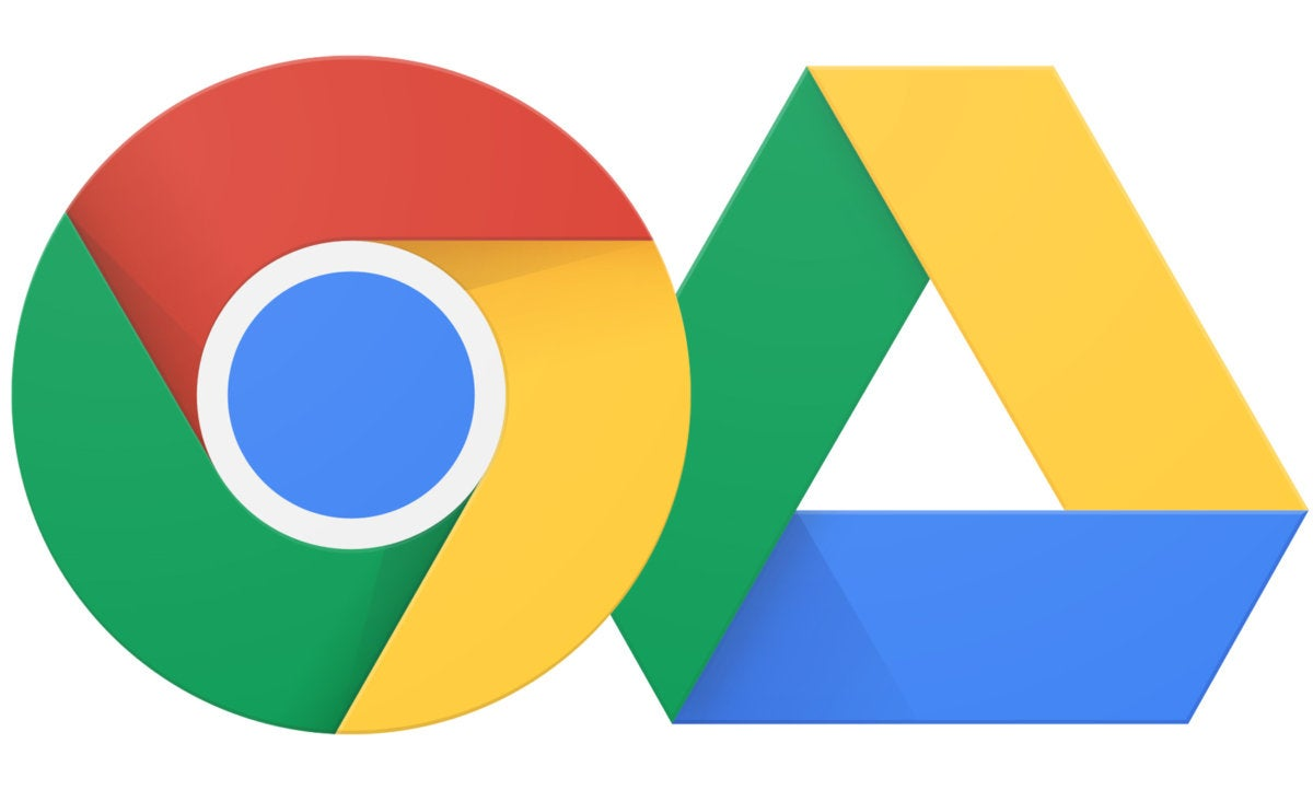 Google Chrome and Drive logos