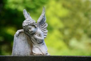 grave angel stock