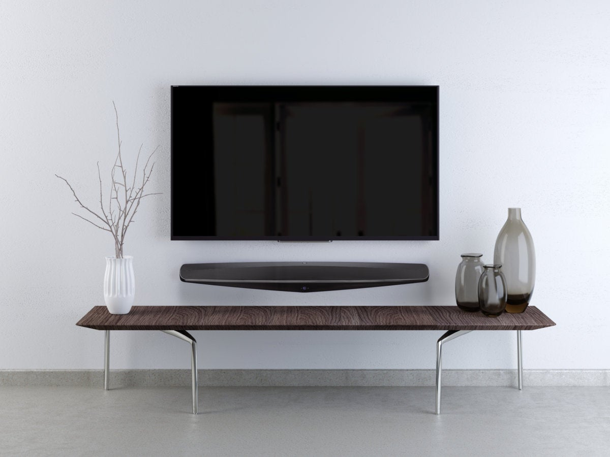 The M3 Sound Bar Can Be Mounted On Top Of A Table Or Inside Cabinet