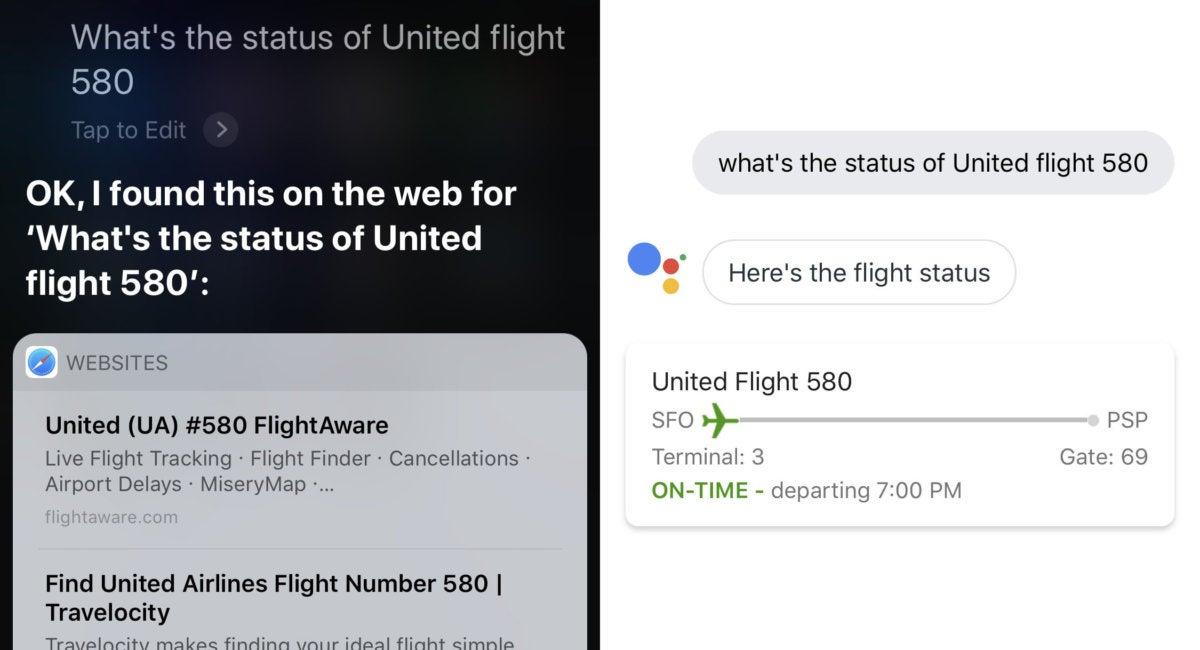 siri vs google