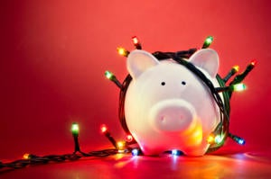Christmas sale piggy bank