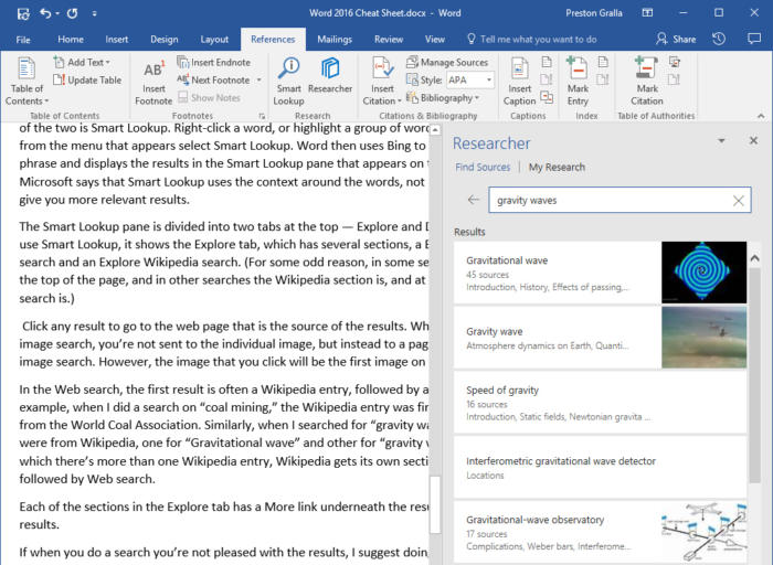 Microsoft Word 2016 - Researcher