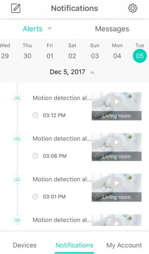 wyzecam notifications