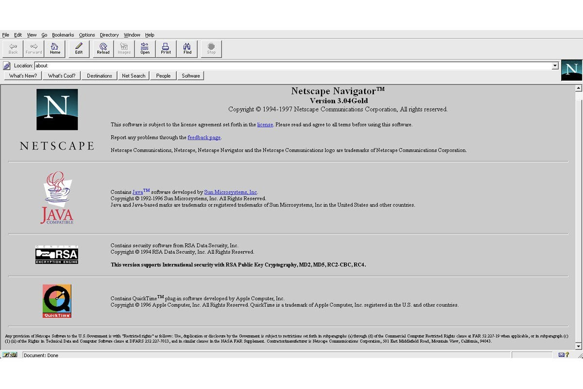 02 oss netscape navigator 3 screenshot