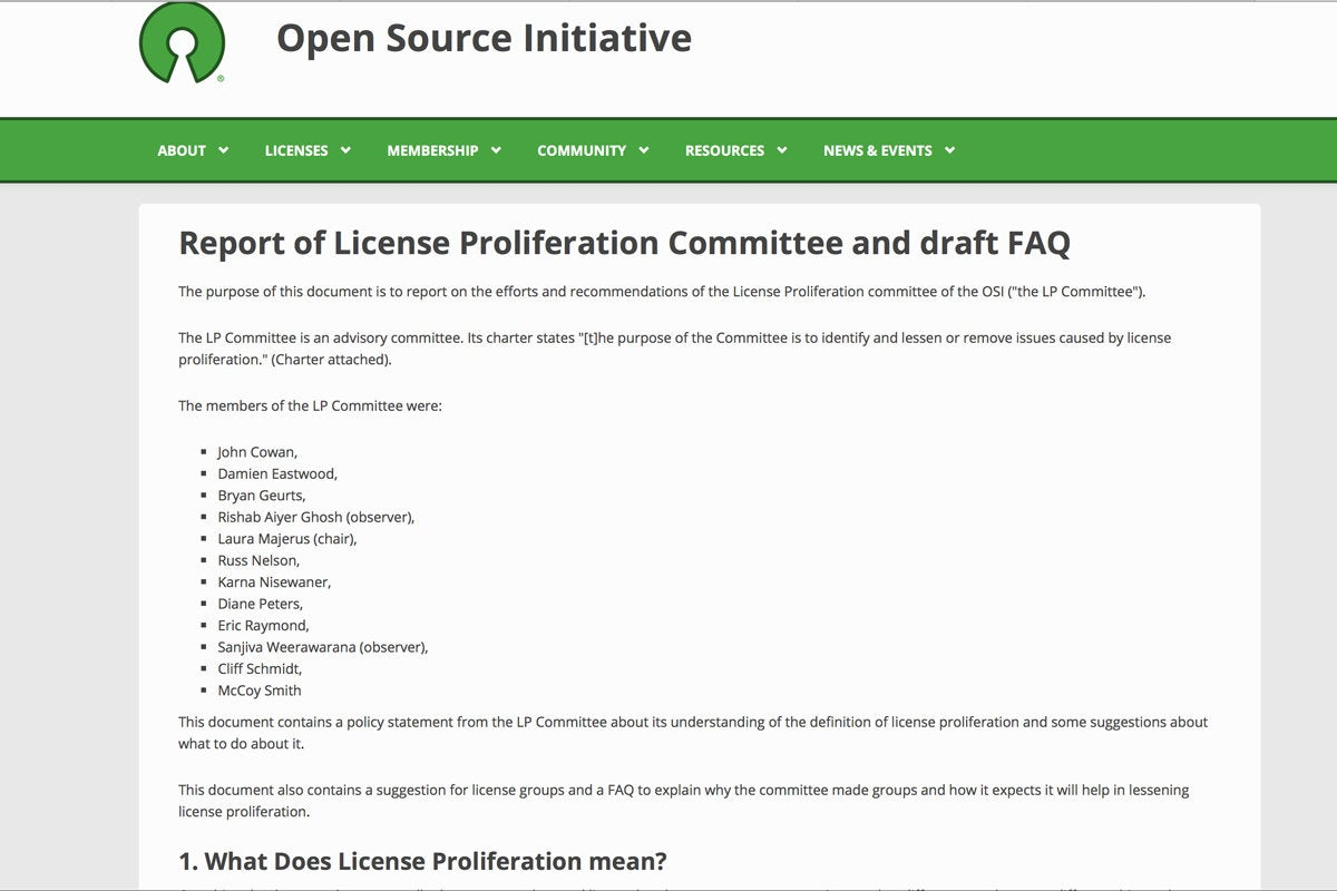 07 oss license prolliferation