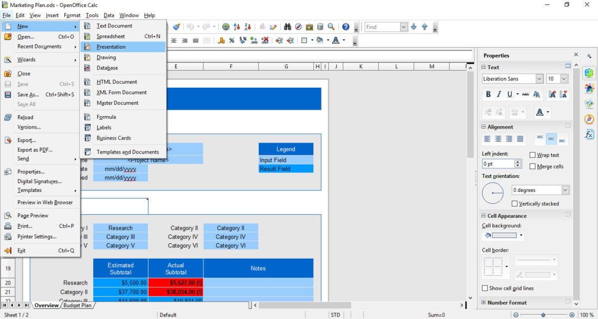 alternative office suites - Apache OpenOffice