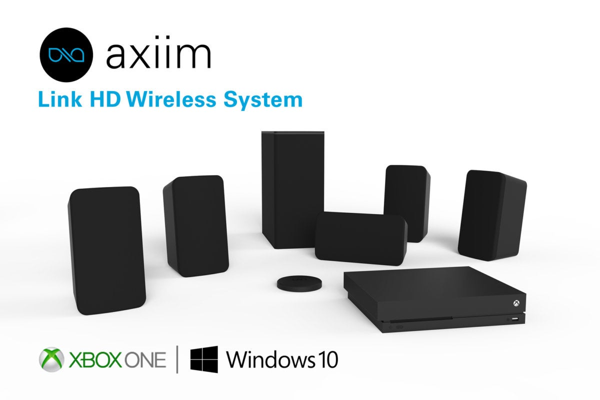 Axiim's Link HD Wireless System is a truly wireless 7.1-channel audio system for home theater