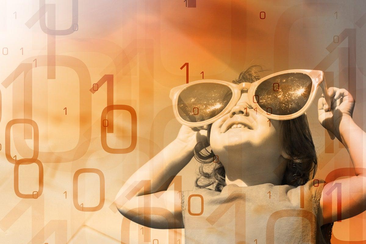 big data little girl binary analytics sunglasses