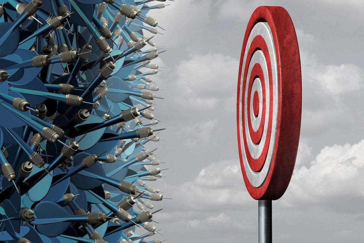 bullseye target crowded darts strategy