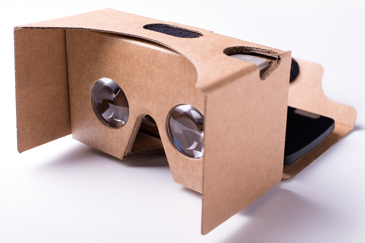 cardboard virtual reality headset toy augmented reality