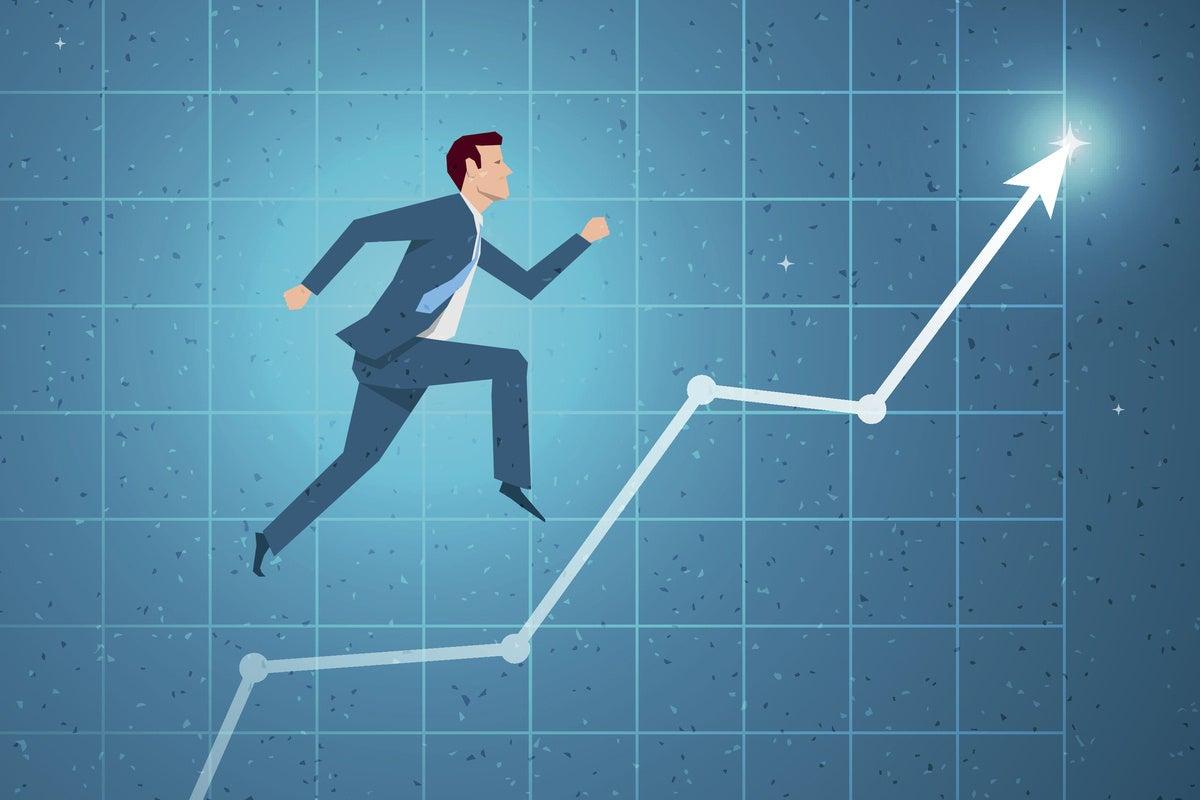 career growth graph trending chart