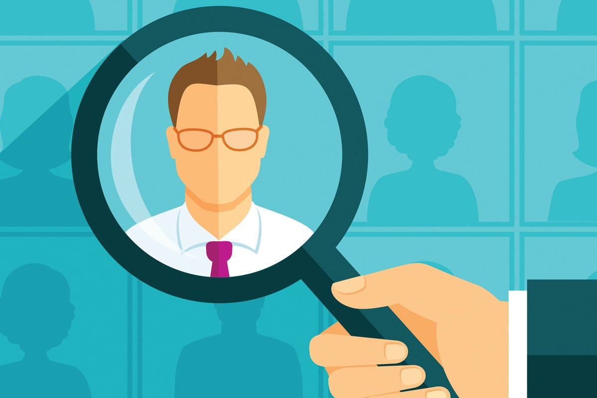 career job seeker recruiter job search magnifying glass
