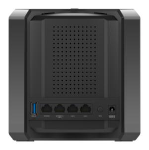 d link ac2600 wi fi router powered by mcafee back