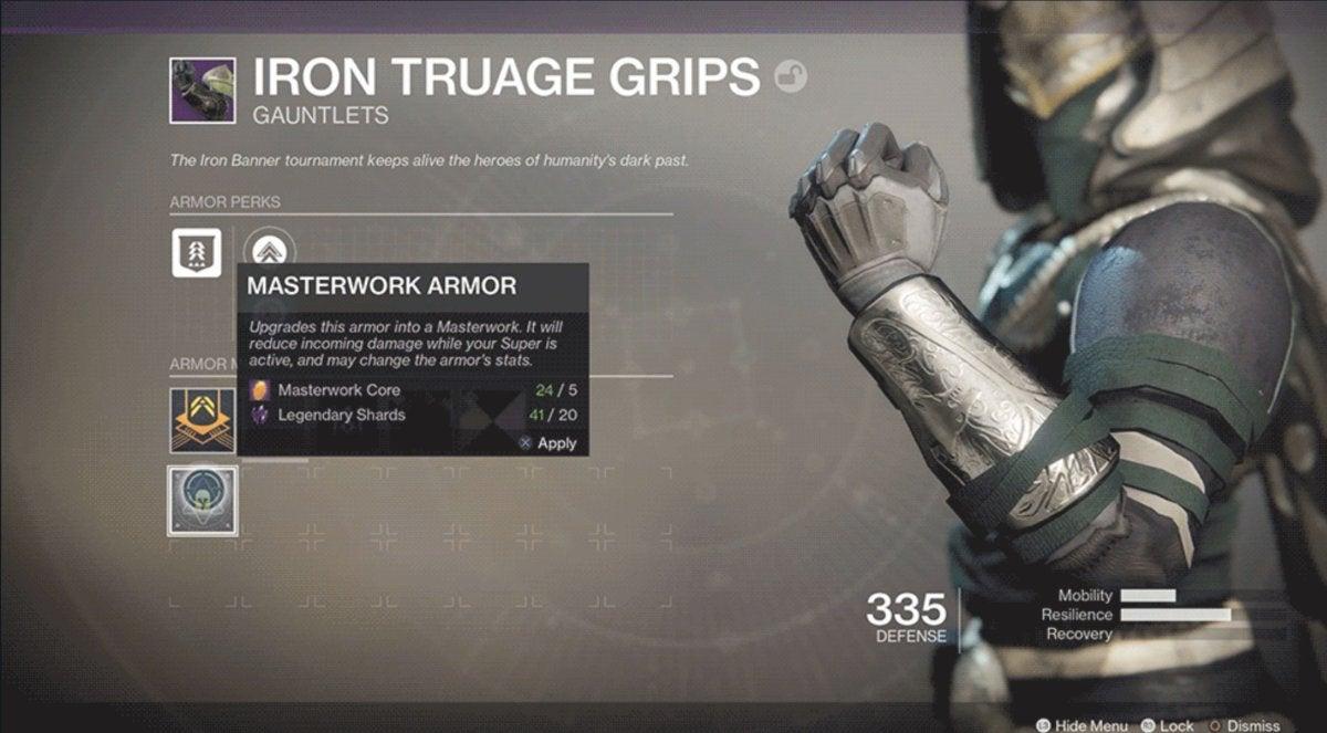 destiny 2 masterwork armor