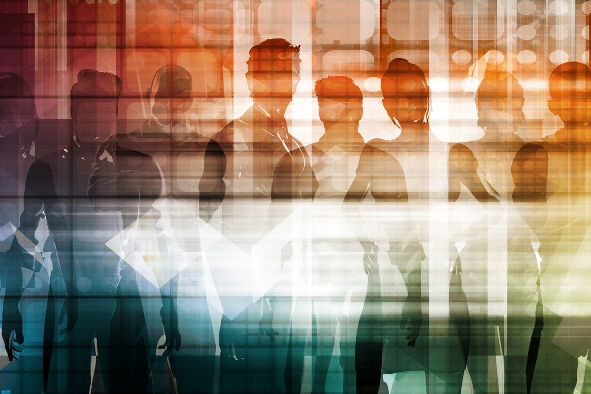 diversity employees abstract crowd