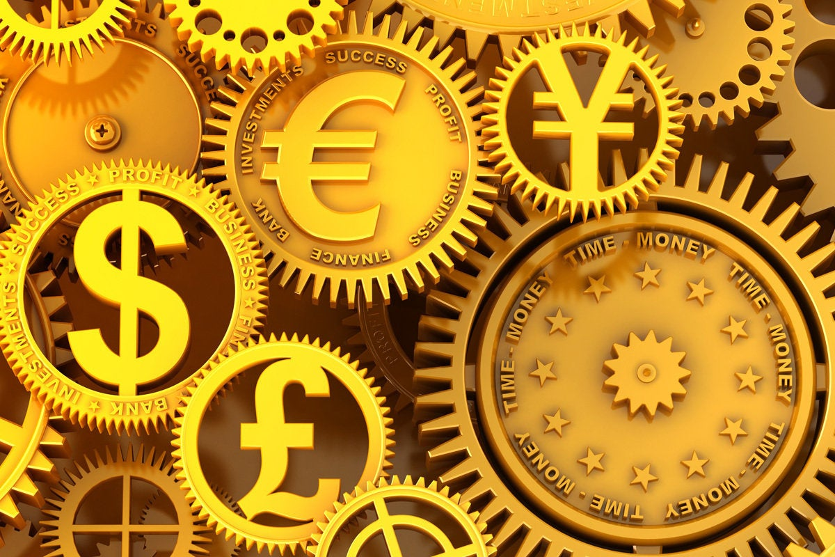euro currency money fintech gears operating costs