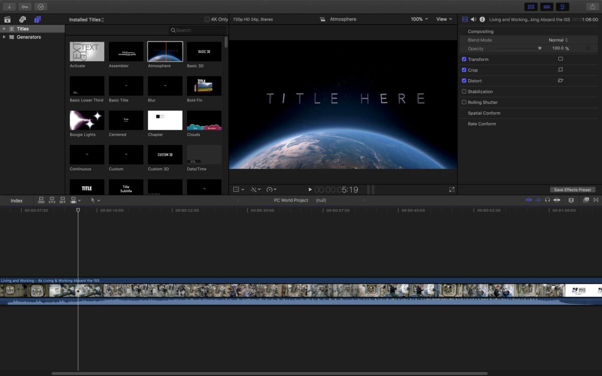 final cut pro x titles