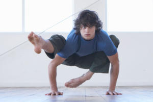 flexible young man yoga agile