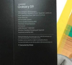 galaxy s9 box leak