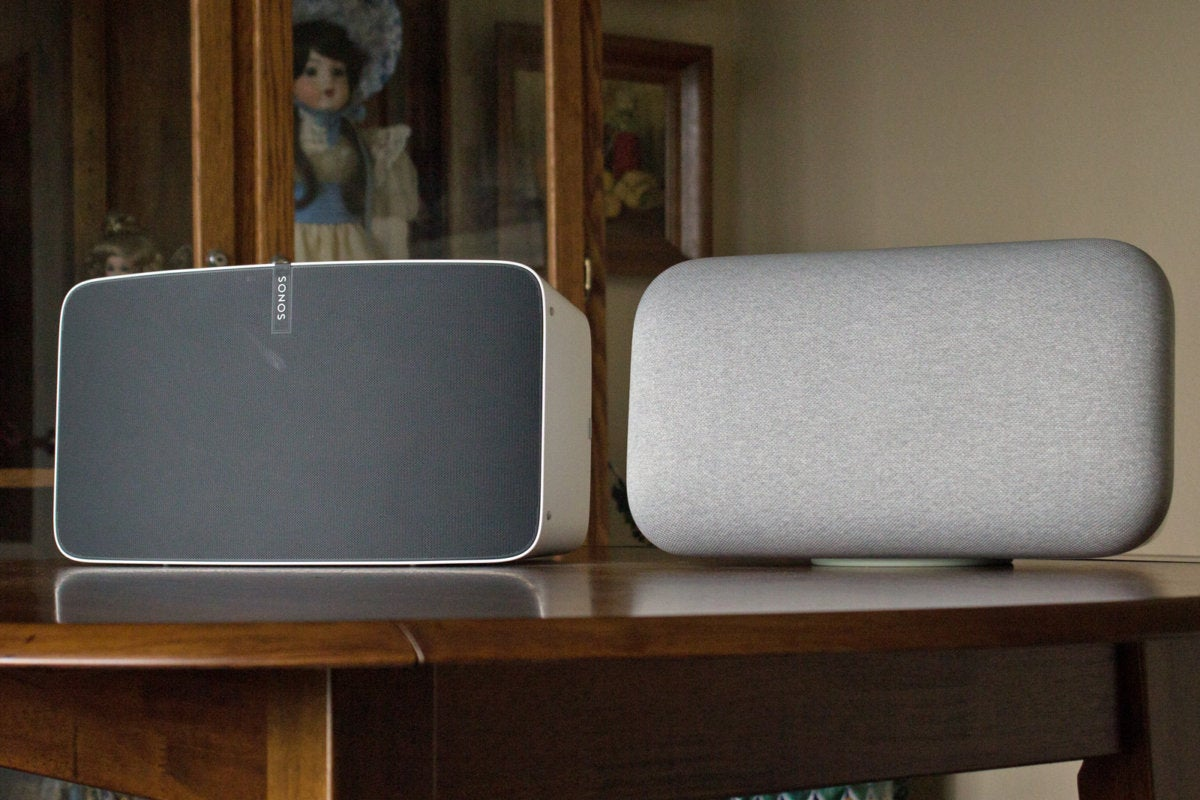 google home max with sonos play 5