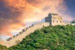 Great Wall china sunset
