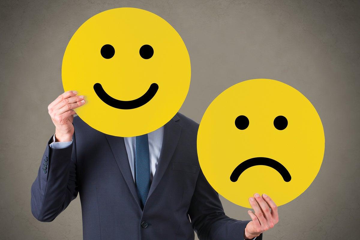 happy face emoticon mood change good vs bad