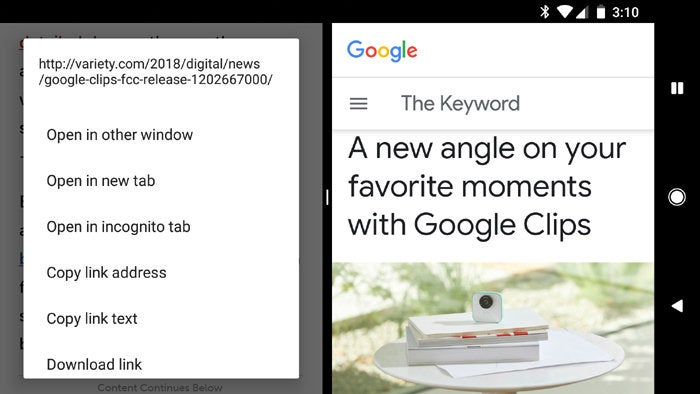 Hidden Android Features - Split Screen Open in New Tab