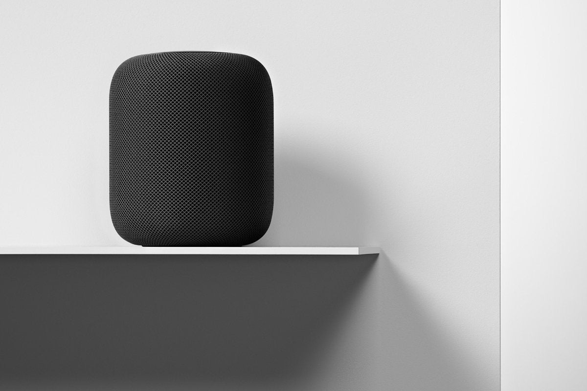 homepod space gray shelf