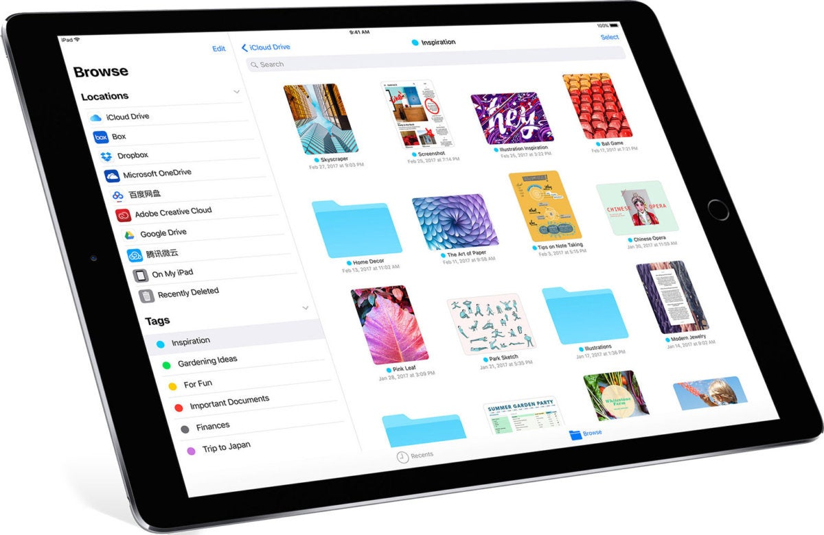 Apple, iOS, iPad, iPad Pro, Files