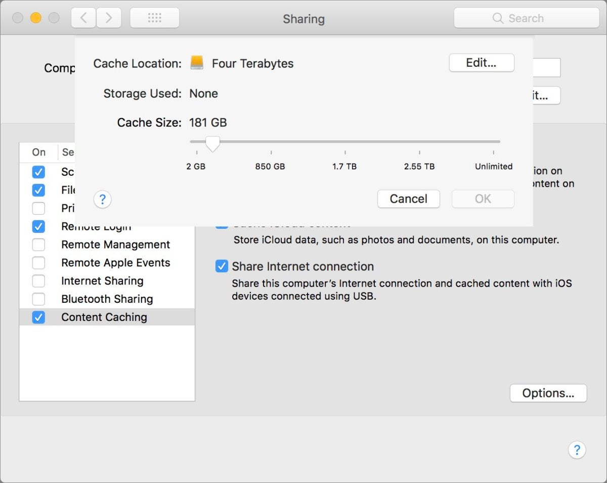 mac911 content caching migration