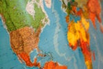 map global outsourcing globe united states