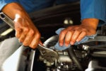 mechanic wrench fix engine repair
