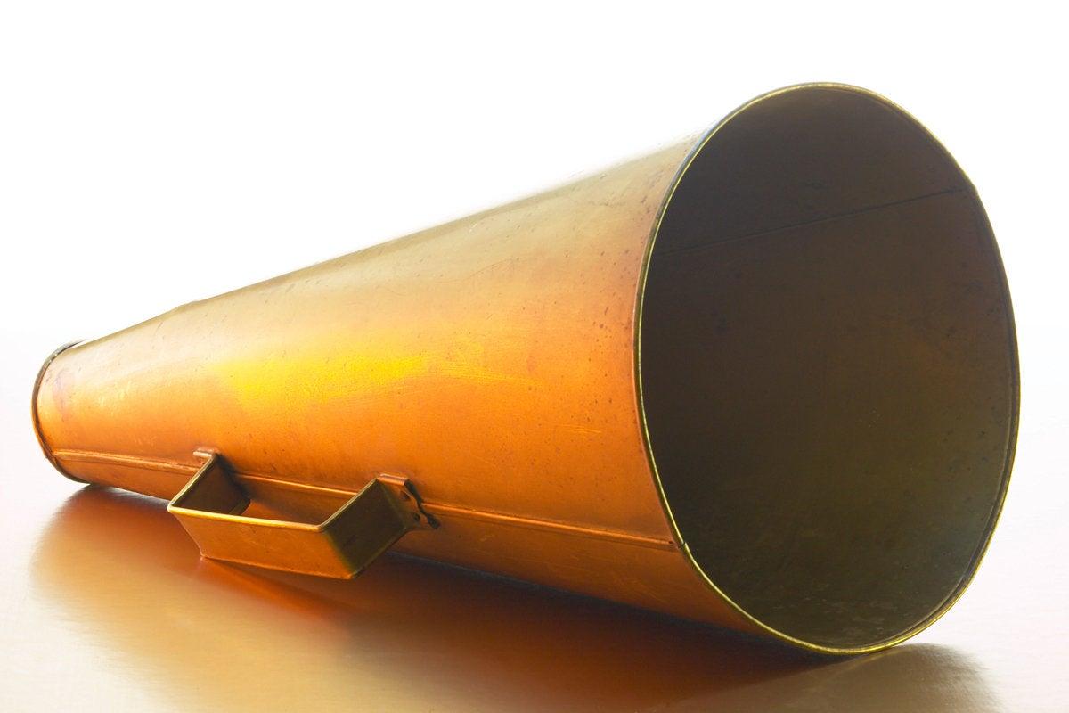 megaphone bullhorn announcement communication